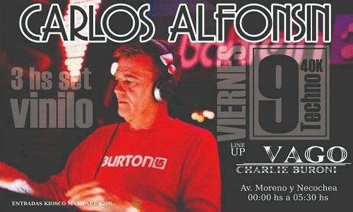 Carlos Alfonsín en 40 Kilates - Av. Moreno y Necochea de 0 a 5.30hs
