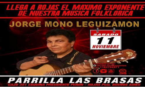 JORGE EL MONO LEGUIZAMON ex primera voz de los Carabajal,  en Rojas