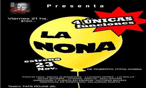 TEATRO TAFS presenta:  LA NONA
