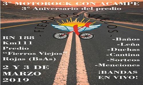 MOTOROCK con ACAMPE en Rojas- Agrupación Fierros Viejos
