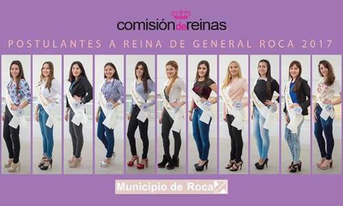 Postulantes a Reina de Roca 2017